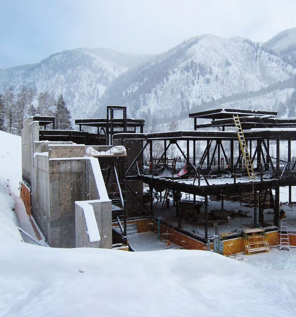 Aspen custom architecture and landscape integration with avalanche-zone safe structural reinforcement engineering