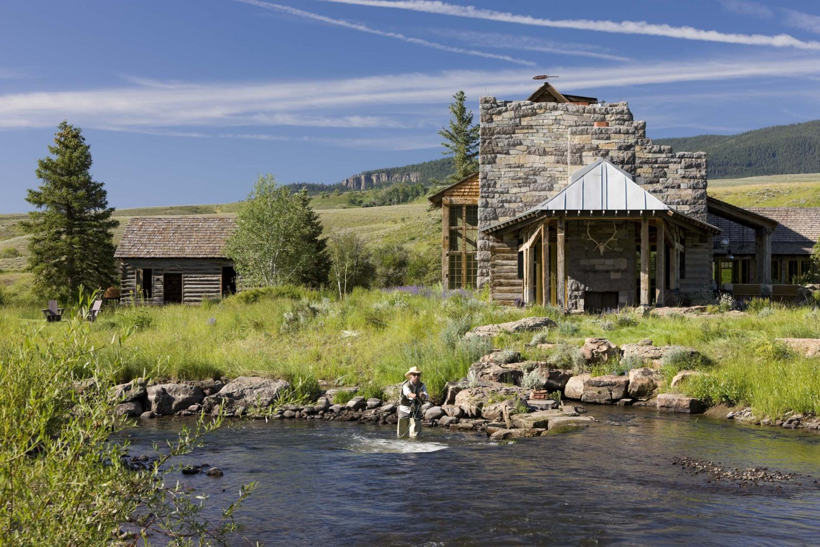 Aspen Crested Butte Ranch Master Plan Landscape Design River restoration Vintage Barn and Cabin Restoration Gentleman Cattle Ranch for High Altitude Alpine Setting on Ohio Creek in collaboration with Studio Sofield
